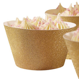 Cupcake Wrapper Gold