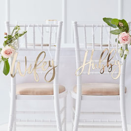 Chair Signs Wifey/Hubby