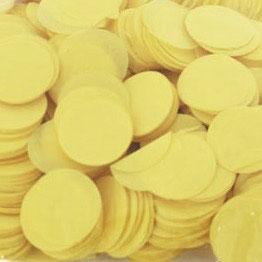 Konfetti Gelb 25mm