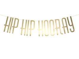 Girlande Hip Hip Hooray Gold