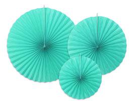 Rosetten Set Tiffany Blue