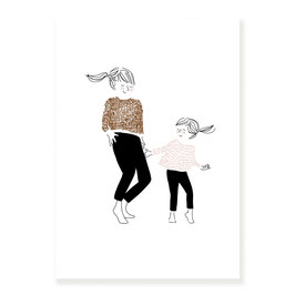 Print My lovely thing- dance girl A4