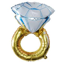 Folienballon Verlobungsring