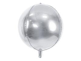 Folienballon Kugel Silber