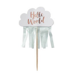 Cupcake Topper Hello World