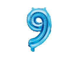 "Folienballon Zahl ""9"" blau"
