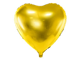 Folienballon Herz big Gold