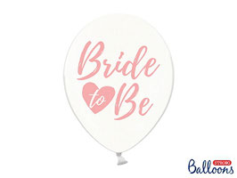 "10 Luftballons 30 cm ""Bride to be"""