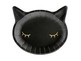 Teller Schwarze Katze