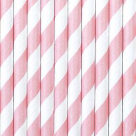 Papierstrohhalme Rosa Streifen