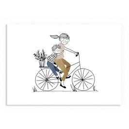 Print My lovely thing- bike ride boy A4