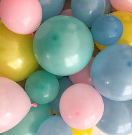 Luftballon Set Pastell Poesie