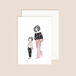 Postkarte My lovely thing- you and me