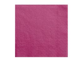 Servietten Uni Dark Pink