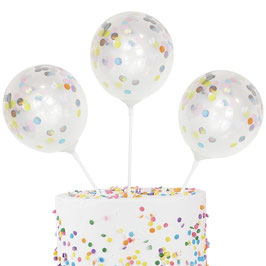 Cake Topper Mini Konfetti Ballons