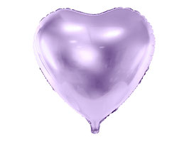 Folienballon Herz Helllila