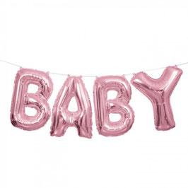 Folienballon Script BABY Pink