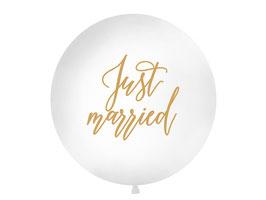 """Riesenballon """"just married"""""""