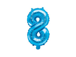 "Folienballon Zahl ""8"" blau"