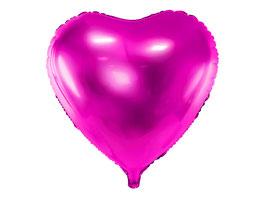 Folienballon Herz Darkpink