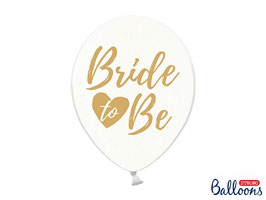"10 Luftballons 30 cm ""Bride to be"" Gold"
