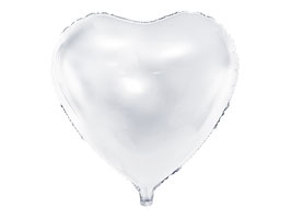Folienballon Herz big Weiß