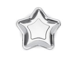 Teller Stern Silber