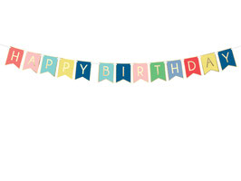 "Banner ""Happy Birthday"" Mix"