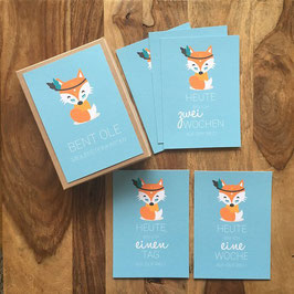 Meilensteinkarten Fuchs Baby Boy