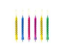 Geburtstagskerzen Punkte bunt