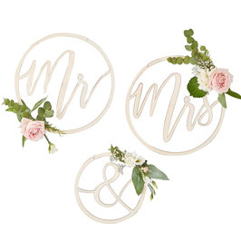 Wedding Hoops Mr. & Mrs.