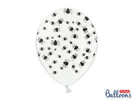 10 Luftballons Spinnen Weiß
