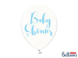 10 Luftballons 30 cm Baby Shower Blau