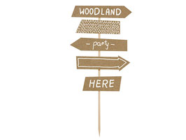 Cake Topper Woodland Sign