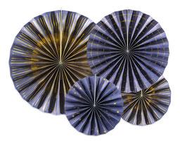 Rosetten Set Navy-Gold