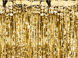 Partyvorhang Gold 90x250cm
