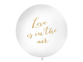 "Riesenballon ""Love is in the air"" Gold"