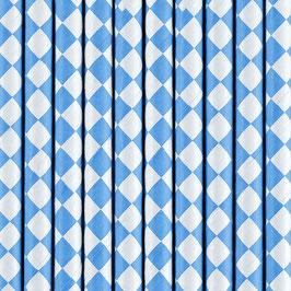 Papierstrohhalme Blau Raute