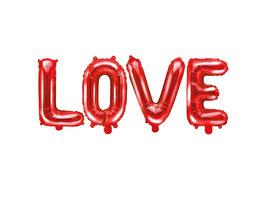 Folienballon LOVE Rot