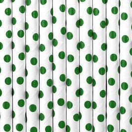 Papierstrohhalme Grüne Punkte