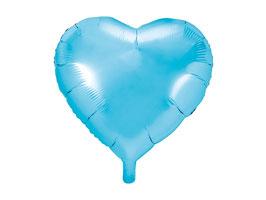 Folienballon Herz Skyblue