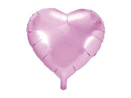 Folienballon Herz Hellpink
