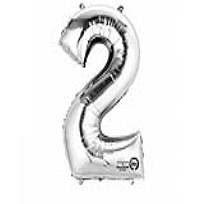 """XL Folienballon Zahl """"2"""""""