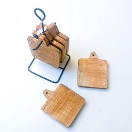 Coaster Set Holz