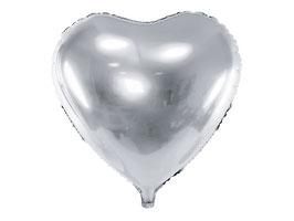 Folienballon Herz big Silber