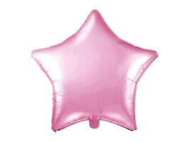 Folienballon Stern Hellpink