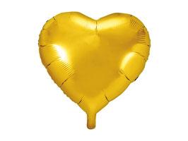 Folienballon Herz Gold