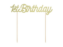 Cake Topper 1st birthday gold