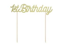 Cake Topper 1st birthday gold