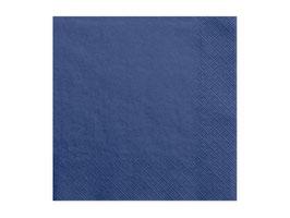 Servietten Uni Navy Blau